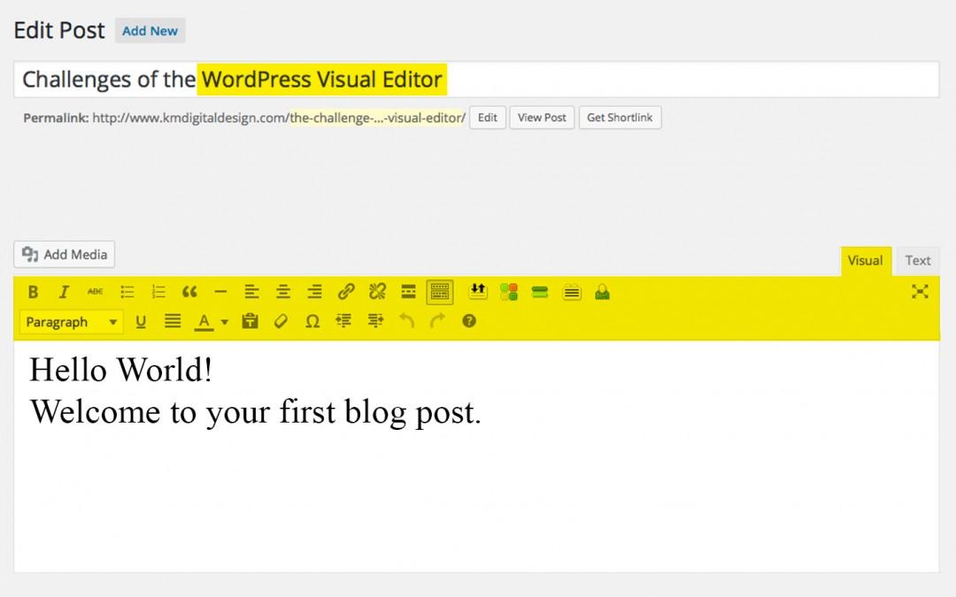 WP Visual Editor Tips